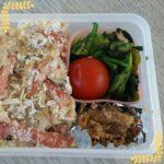 チーズinドリア弁当、野菜のあんかけ弁当(生姜の酢漬けのせ)